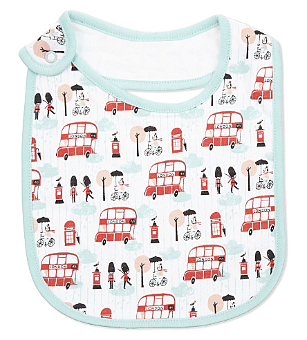 LONDON London print cotton bib