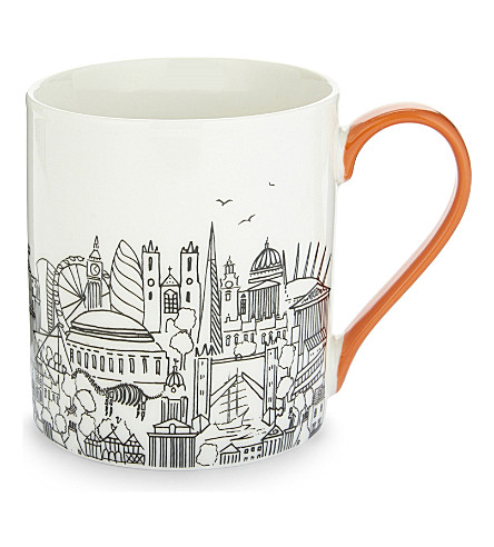 LONDON London boxed china mug