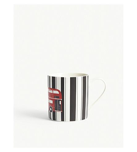 RED BUS Printed bone china mug