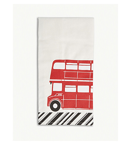 RED BUS London bus print tea towels pack of two
