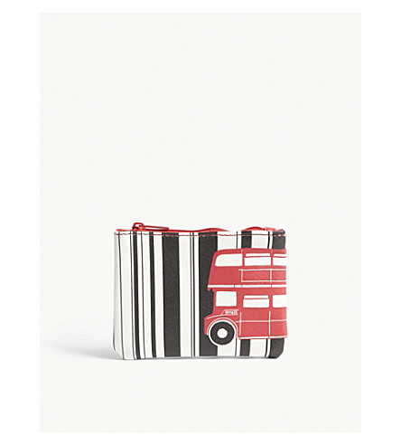 ALICE TAIT Printed zipped coin purse