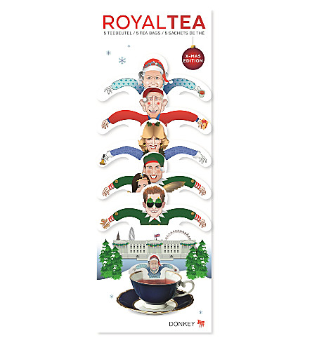 DONKEY PRODUCTS Tea party Christmas Royal tea bags set of five