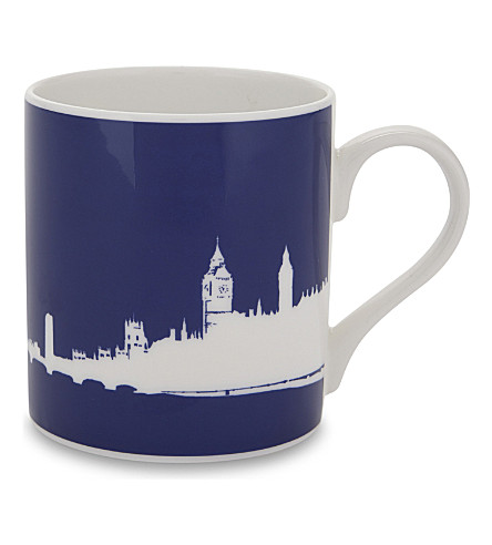 SNOWDEN London eye print mug