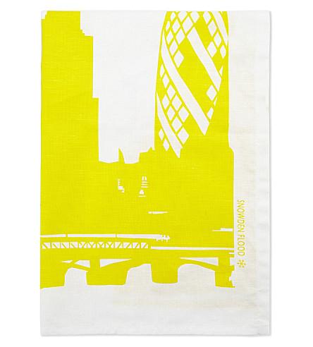 SNOWDEN St Paul's Catherdral print linen tea towel