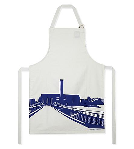 SNOWDEN Tate Modern print cotton apron