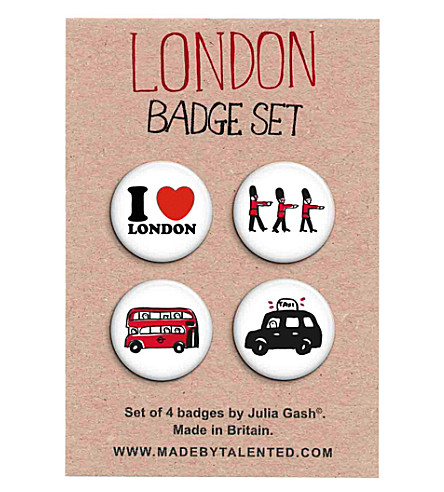 TALENTED Badge - set of 4