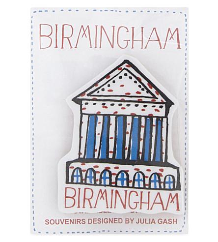 TALENTED Birmingham Town Hall brooch