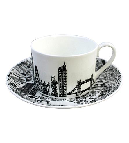 HOUSE OF CALLY East London china teacup & saucer