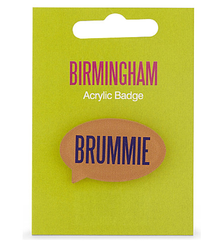 MY WORLD BRUMMIE acrylic badge