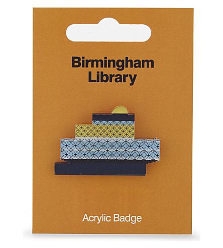 MY WORLD Birmingham library badge