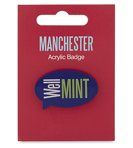 MY WORLD Well mint badge