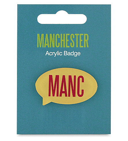 MY WORLD Manc badge