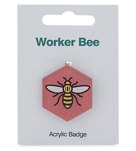 MY WORLD Worker bee badge