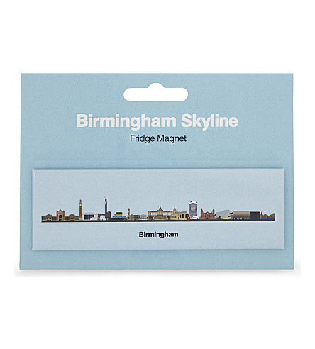 MY WORLD Birmingham skyline fridge magnet