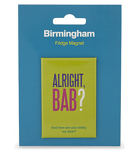 MY WORLD Birmingham slang fridge magnet