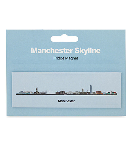 MY WORLD Manchester skyline fridge magnet
