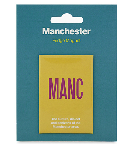 MY WORLD MANC print fridge magnet
