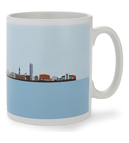 MY WORLD Manchester skyline ceramic mug