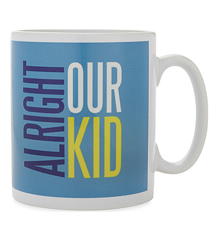 MY WORLD Manchester slang print ceramic mug
