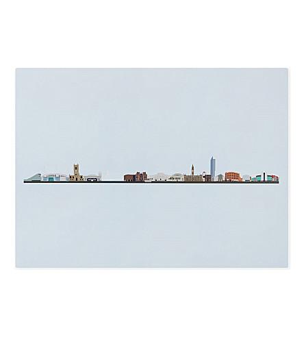 MY WORLD Manchester Skyline art print 40cm x 30cm