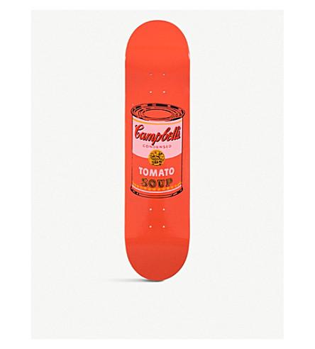 SKATEROOM ANDY WARHOL 坎贝尔的汤罐头打印木滑板甲板