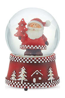 GISELA GRAHAM Musical Santa snowglobe