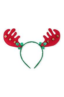 GISELA GRAHAM Reindeer bells headband 24cm