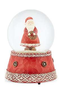 GISELA GRAHAM Santa musical snowglobe 14cm