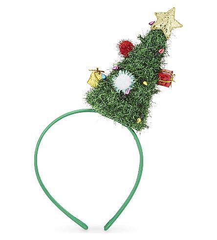 DRESS UP Tinsel Christmas tree hairband 25cm