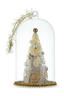GISELA GRAHAM Vintage tree and deer dome decoration