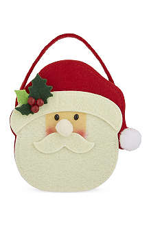 GISELA GRAHAM Felt Santa head bag