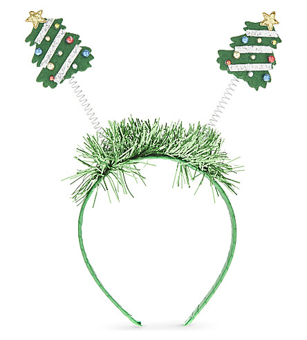 DRESS UP Tinsel christmas tree hairband 25cm
