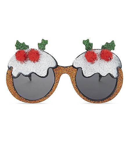 DRESS UP Novelty Christmas pudding glasses