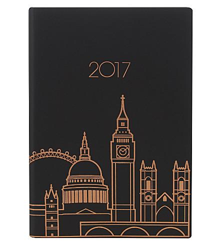 LONDON London skyline leather 2017 A5 diary