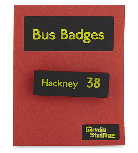 TURNAROUND PUBLISHING Hackney 38 bus badge