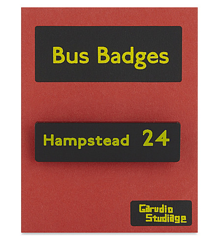 TURNAROUND PUBLISHING Hampstead 24 bus badge