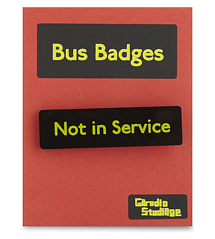TURNAROUND PUBLISHING Not in Service bus badge