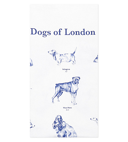TURNAROUND PUBLISHING Dogs of london cotton tea towel