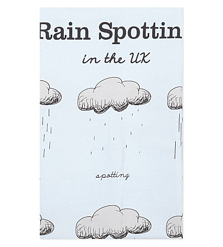 TURNAROUND PUBLISHING Rainspotting in the UK cotton tea towel