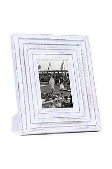 Ava distressed white mango wood frame 5
