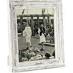 NKUKU Jasailmer aged wood photo frame white 8x10""