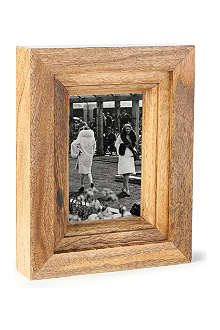 Mango wood photo frame 6x4""