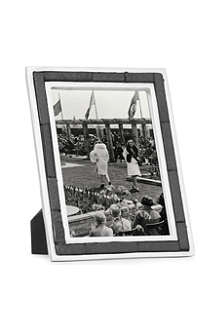 Aluminium and slate photo frame 7
