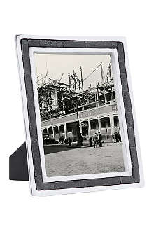 Aluminium and slate photo frame 8