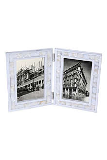 BASKERVILLE & SANDERS Mother of pearl frame double photo frame 6