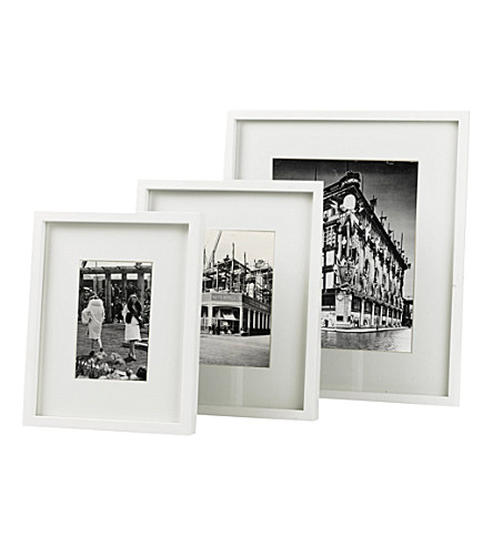SIX TREES Hanover white wood frame 8