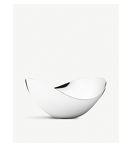 GEORG JENSEN Bloom tall stainless steel bowl 14cm