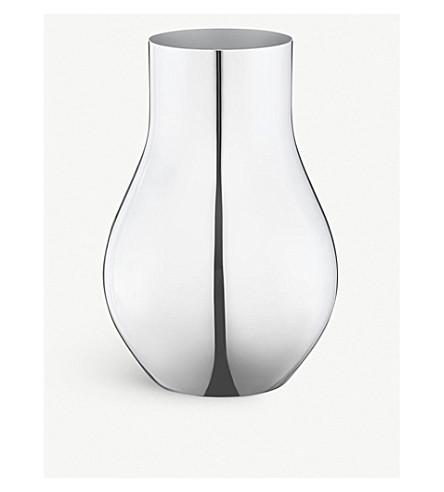 GEORG JENSEN Cafu stainless steel vase 30cm