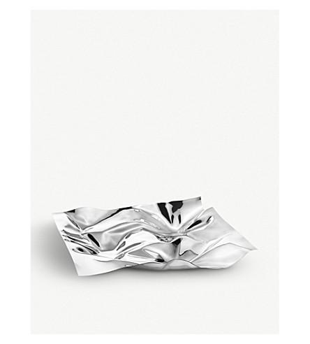 GEORG JENSEN Panton stainless steel tray 27x32cm