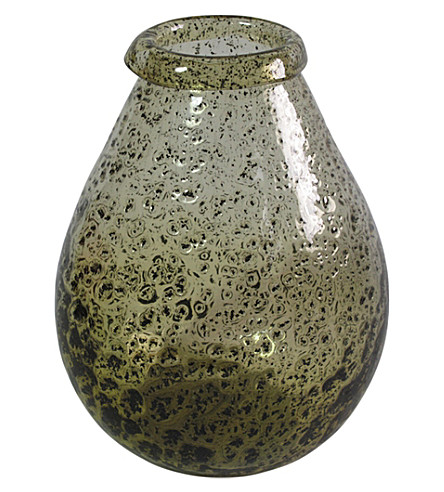 ABIGAIL AHERN Bourne dimpled glass vase large